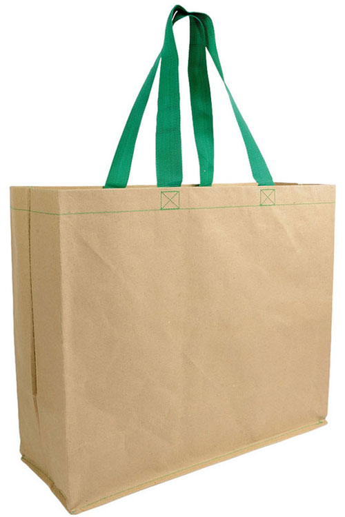Shopper carta rinforzata con manici nylon f.to 43 x 33 x 13 cm