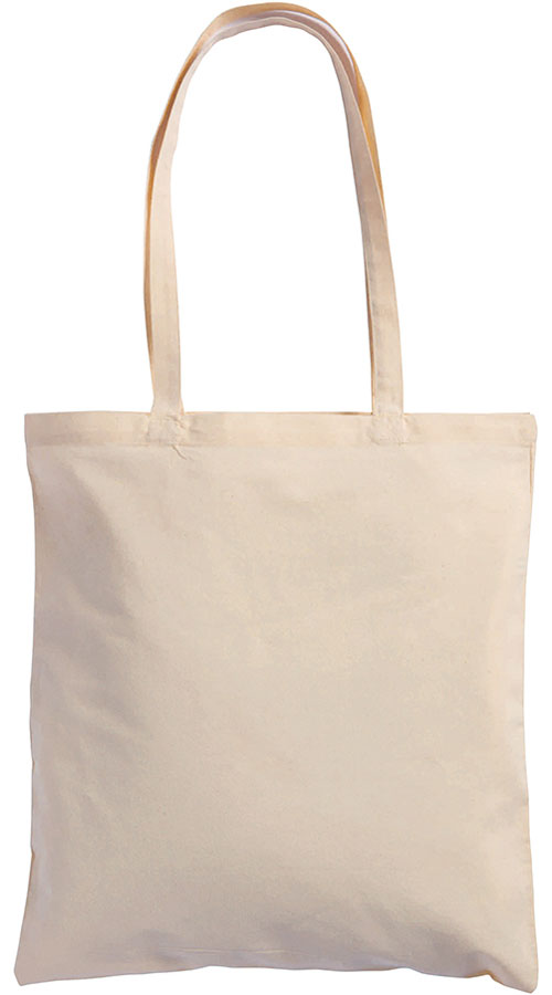 Shopper manici lunghi in cotone naturale 100 gr f.to 38x42