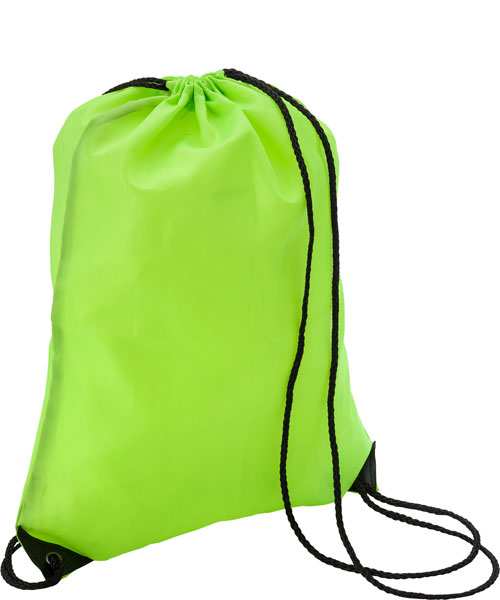 Sacca a zaino in nylon Evergreen verde fluo
