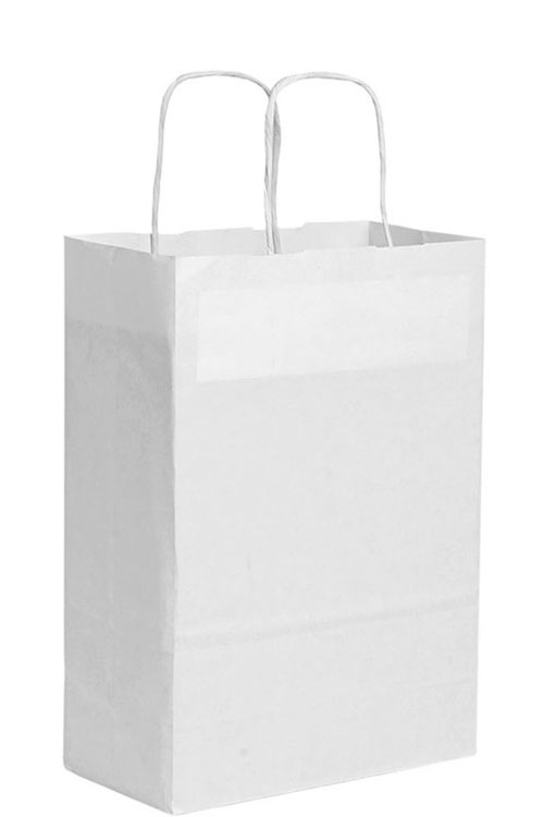 Shopper carta bianca f.to 22x29x10cm