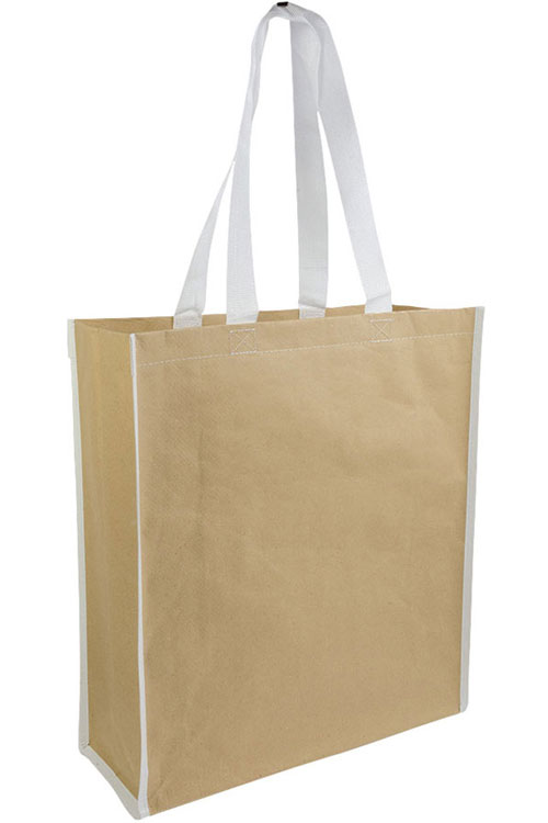 Shopper carta rinforzata con manici nylon f.to 38 x 42 x 15 cm