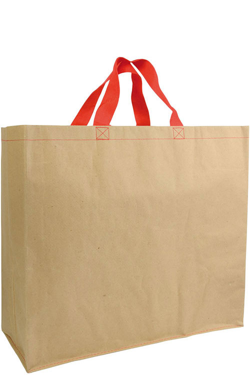 Shopper carta rinforzata con manici nylon f.to 45 x 40 x 18 cm