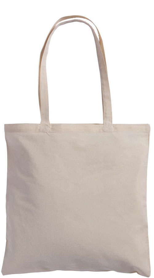 Shopper manici lunghi in cotone naturale canvas Trilussa Natural
