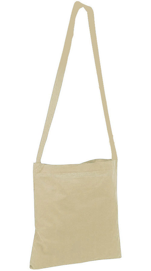 Shopper con tracolla in cotone naturale