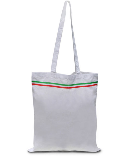 Borsa shopper in cotone Italia