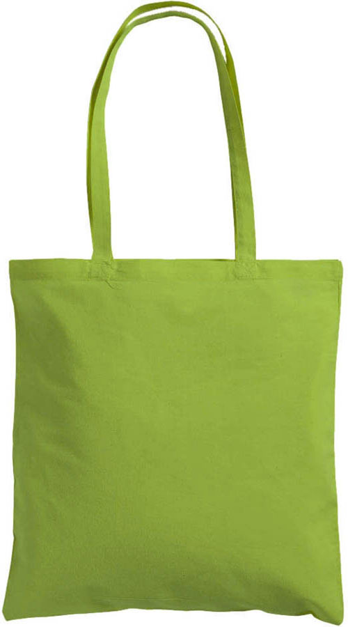 Shopper World in cotone colorato 120 gr verde mela