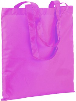 Shopper in nylon in colore fuxia fluo