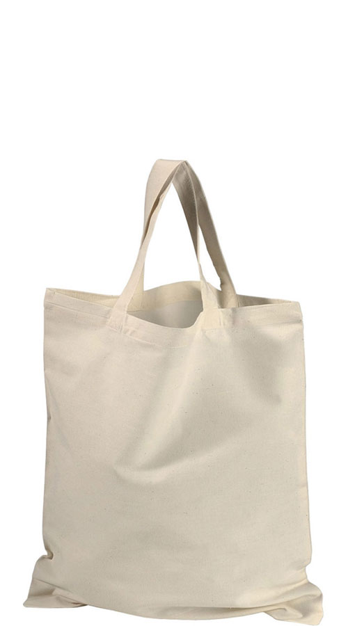 Shopper manici corti in cotone naturale