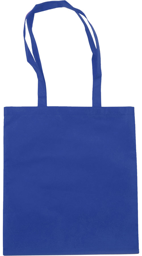 Shopper cucita con manici lunghi in TNT, blu royal