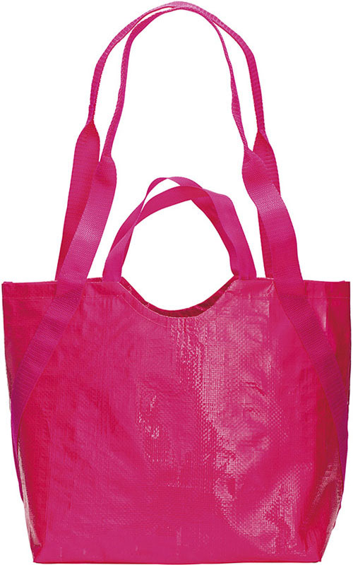 Shopper con doppi manici Double Handle fuxia
